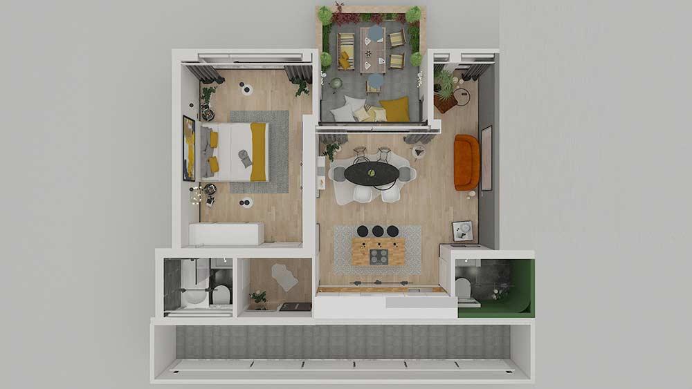 living-steglitz-wohnung-kaufen-berlin, 2-Zimmerwohnung in Berlin
